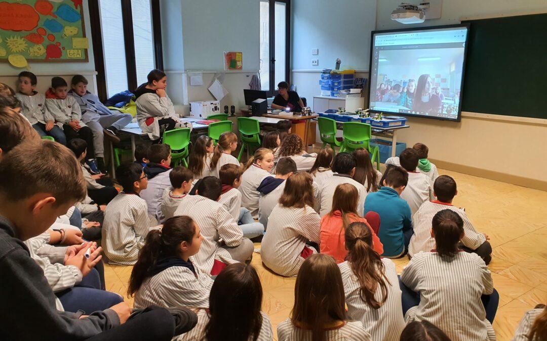 6è Primària. Videoconferència amb Blanes i Mataró